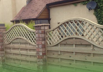 decorative fence from Castle Fencing