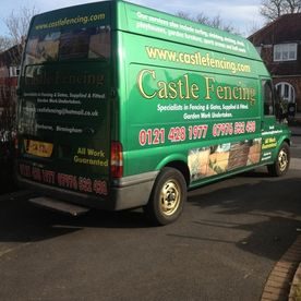 Castle Fencing van